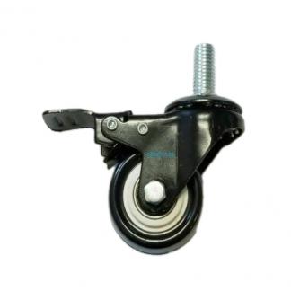 Cast Wheels 2 Inch Bearing Wheels Lock Black Direct Bolt