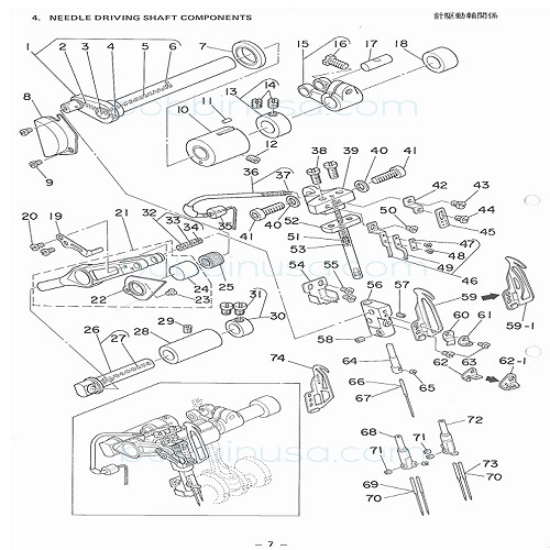 Needle Clamp 4 Thread For Juki Overlock Sewing Machine Mo 2414 Mo