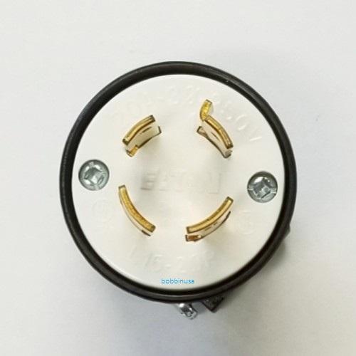 Cooper Plug Male 4 Prong 3 Wire 220v E2466
