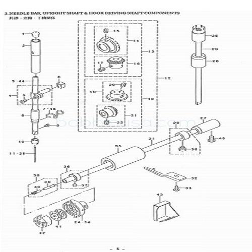 Oil Regulator Screw Juki Machine DDL-552 to 8700 Genuine