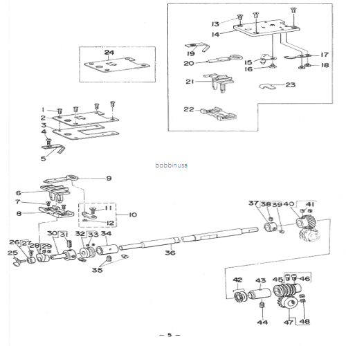 York Slide for Juki Button Sew Machine MB-373 Genuine