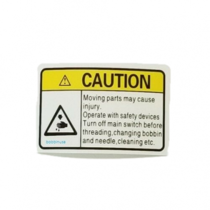 Warning Caution Label Sticker Industrial Sewing Machine