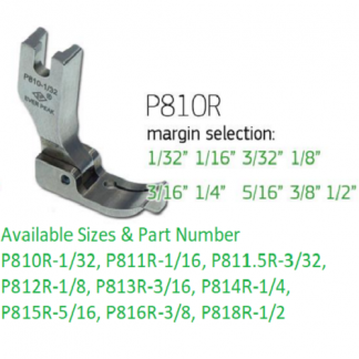 Edge Guide Presser Foot 1/8-R Single Needle Ever Peak