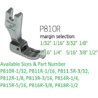 Edge Guide Presser Foot 3/32-R Single Needle Ever Peak