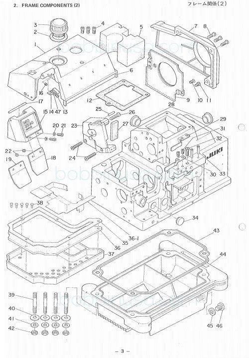 Face Plate W Eye Guard Assembly Juki Overlock Sewing Machine Mo