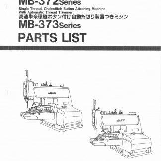 Juki Button Sew Sewing Machine Parts Book MB-372/373